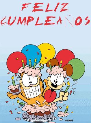 Feliz cumpleaños Garfiel y Oddie