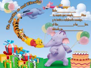 Tarjeta de cumpleaños de Winnie Pooh